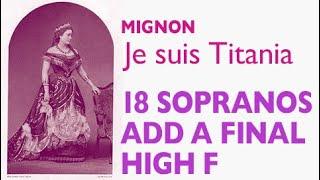 Glass Shatterers!  Coloratura Comparison: 18 sopranos add a High F to