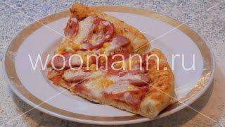 Рецепт пицца с колбасой, сыром и помидорами