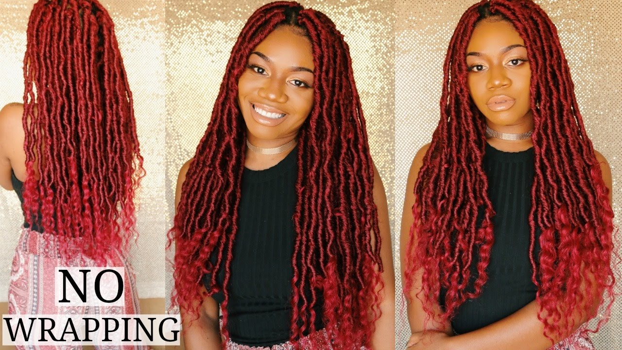 New Technique For Goddess Locs No Wrapping Lightweight