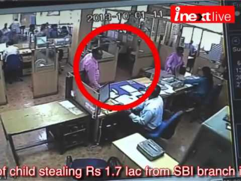Agra: CCTV footage of child stealing 1.7 lac from SBI branch