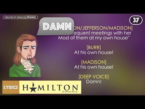 #37 Hamilton - The Reynolds Pamphlet (VIDEO LYRICS)