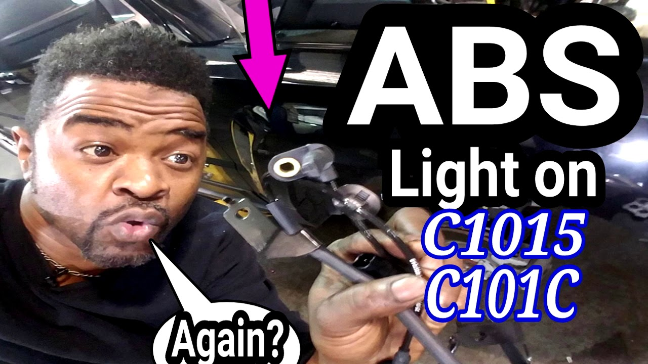 ABS light on  How to replace a wheel speed sensor  C0045