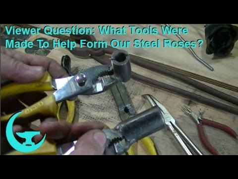 Viewer Question: What Tools Were Made To Help Form Out Steel Roses?