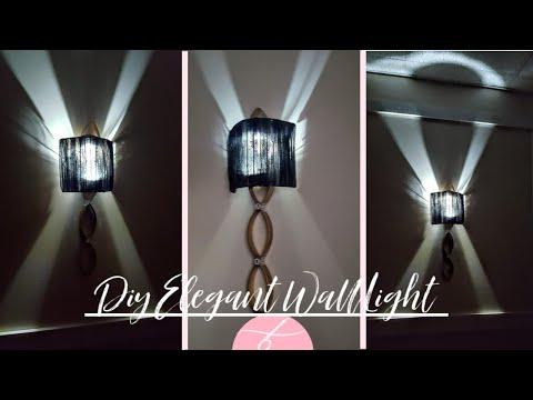 New DIY Dollar Tree Glam Wall Light - DIY Elegant Wall Sconce - Wall Lamp - Home Decor DIY - 2019