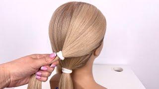 Прическа на длинные и средние волосы Пучок