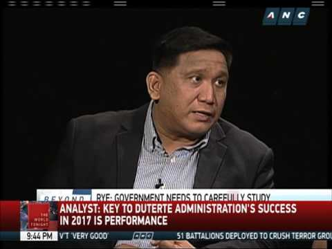Analysts say performance is key to Duterte admin's 2017 success