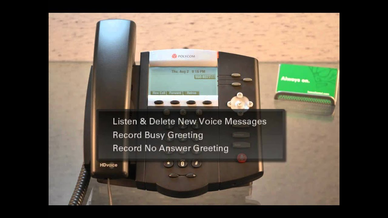 Polycom How To Set Up Voicemail Youtube