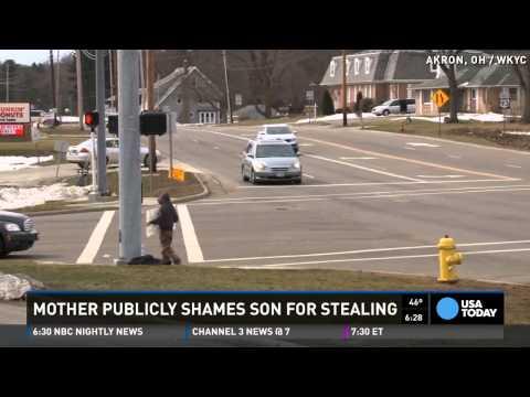 'I am a thief': Boy gets public punishment from mom