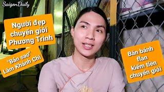 Xuất hiện cô gái chuyển giới giống hệt Lâm Khánh Chi, bé Phương Trinh bán bánh flan