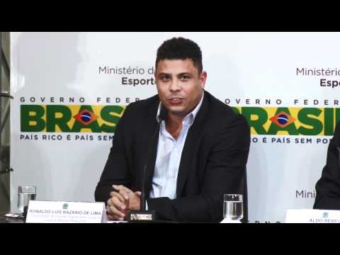 Entrevista coletiva - Aldo Rebelo, Ronaldo e Jérôme Valcke