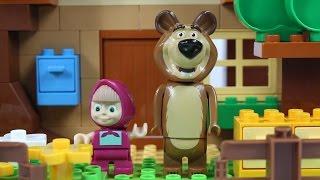 Masza I Niedźwiedź - Zbuduj Domek Niedźwiedzia! / Build Bear's House! - PlayBig Bloxx