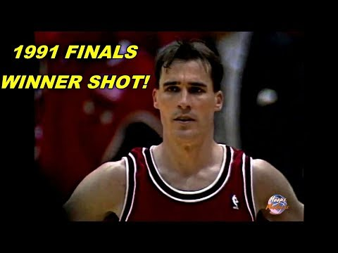 John Paxson Championship Winner Shot in 1991 NBA Finals!