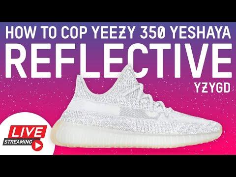How to Cop adidas Yeezy Boost 350 V2 Yeshaya REFLECTIVE RF Yeezy Supply Shock Drop Live Stream