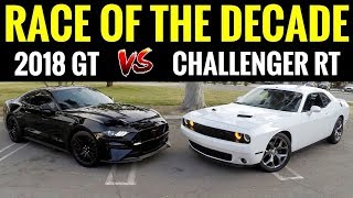 2018 Mustang GT vs Dodge Challenger RT | STREET RACE!