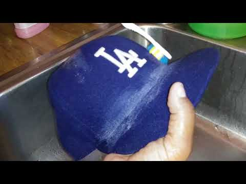 How to clean baseball cap.