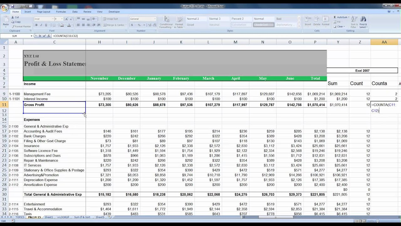 how to calculate in excel 2010