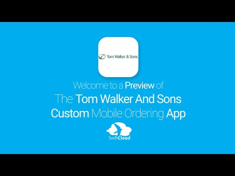 Tom Walker And Sons - Mobile App Preview TOM3016W