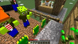 Minecraft Mod Review! Plants VS Zombies