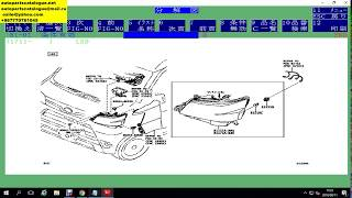 DAIHATSU JAPAN EPC Parts Catalog [04.2018] | How to use Chassis or VIN