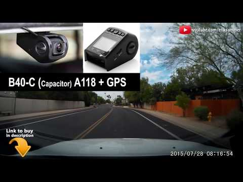 Best Dash Cam For Under $100 Review Of The B40-C A118 With GPS