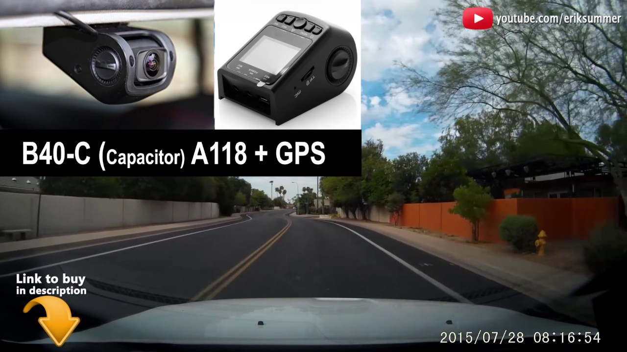 Best dash cam for under 100 review of the b40 c a118 with gps youtube