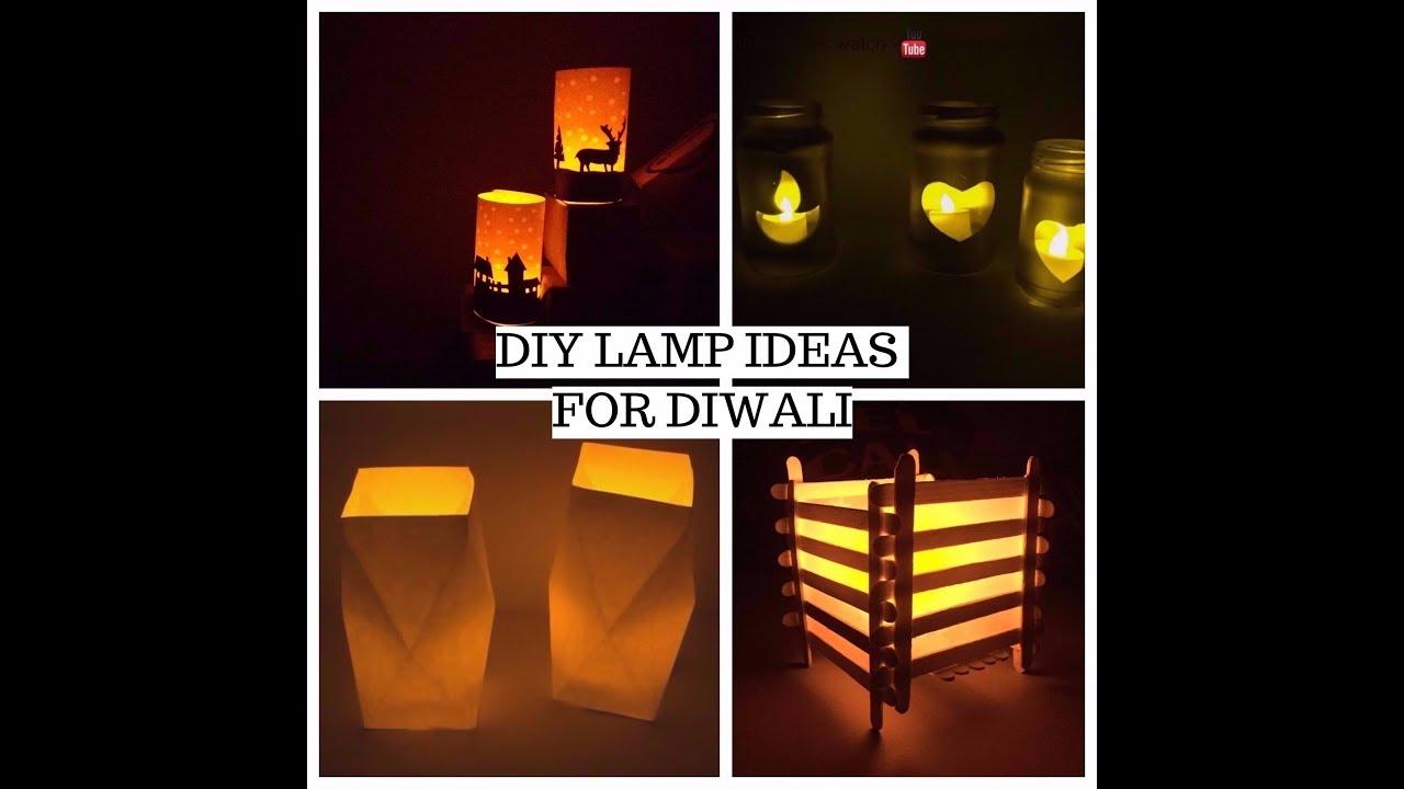 Diwali decoration ideas || DIY LAMP ||home decor || Soumya Dubey ... for Lamp Decoration Ideas Diy  55dqh