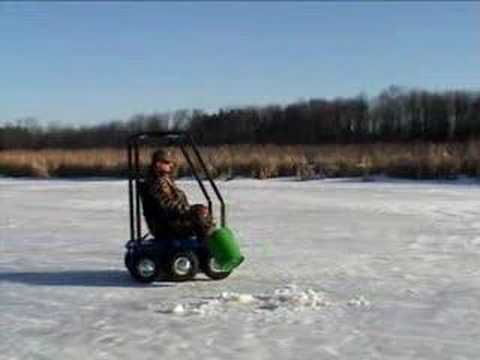 Ice Fishing Lawn Chair Windsor Kitchen Chairs Wheelchair Youtube