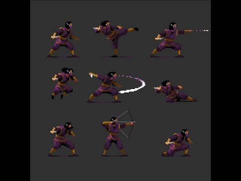 Pixelart Character - Action Poses