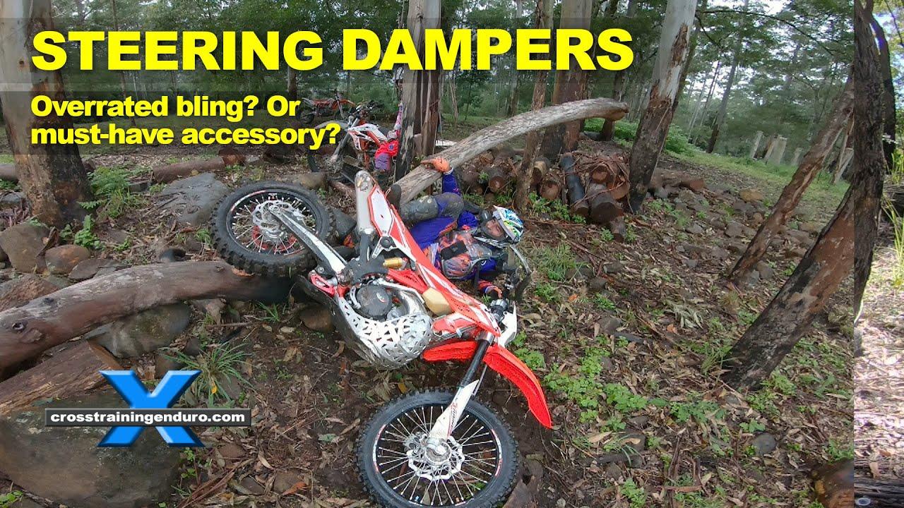 Steering Stabilizers God S Gift To Dirt Bikes Cross Training Enduro Youtube