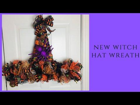 New Dollar Tree Metal Witch Hat DIY Wreath