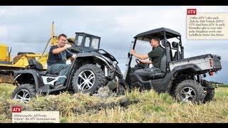 ATV oder UTV: Wer ist der besser Helfer in der Landwirtschaft?