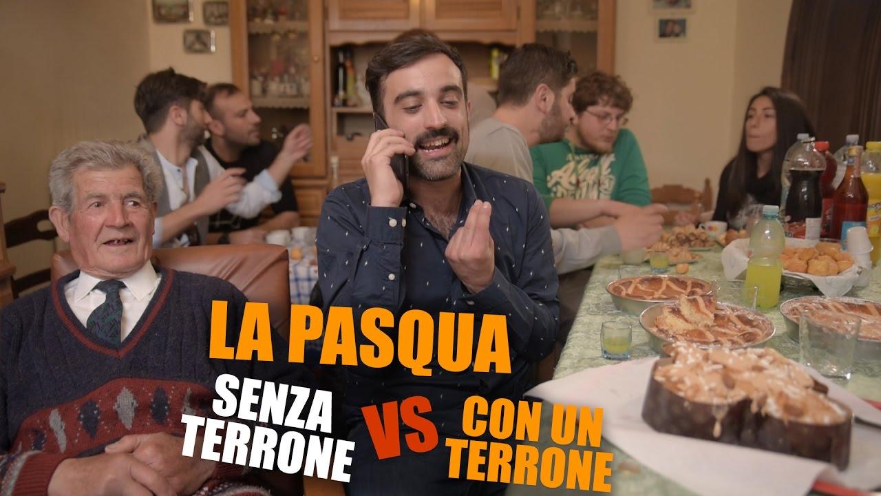La PASQUA CON UN TERRONE vs SENZA UN TERRONE  YouTube