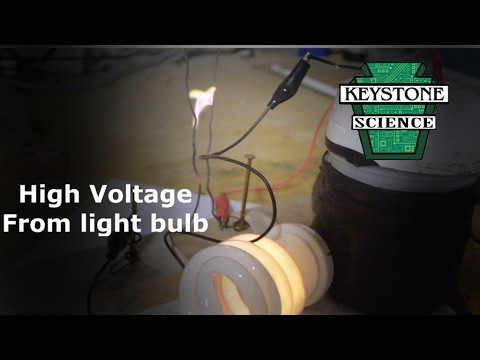 High Voltage from Fluorescent Bulb