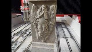 Режимы обработки известняка разными фрезами на фрезерном станке ЧПУ DeKart Производство памятников