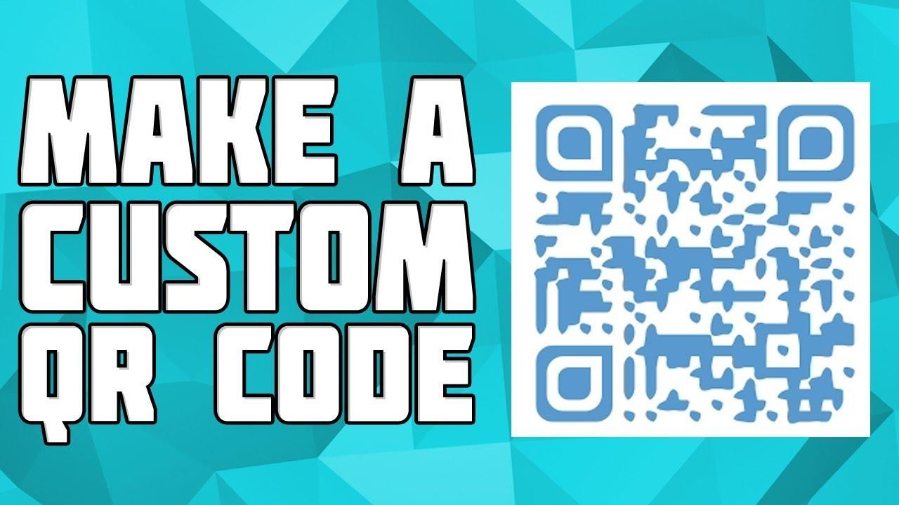 How to Make a Custom QR Code! Customized QR Code! Make your own QR Code!  FREE QR code Generator!
