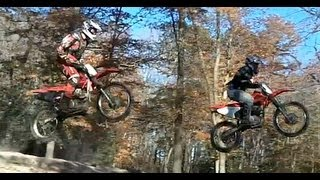 CRAZY KIDS RIDE TRAIL BIKES ON MOTOCROSS TRACK