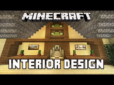 Minecraft Tutorial:  Awesome Interior House Design Tips   (House Building Project Part 34)