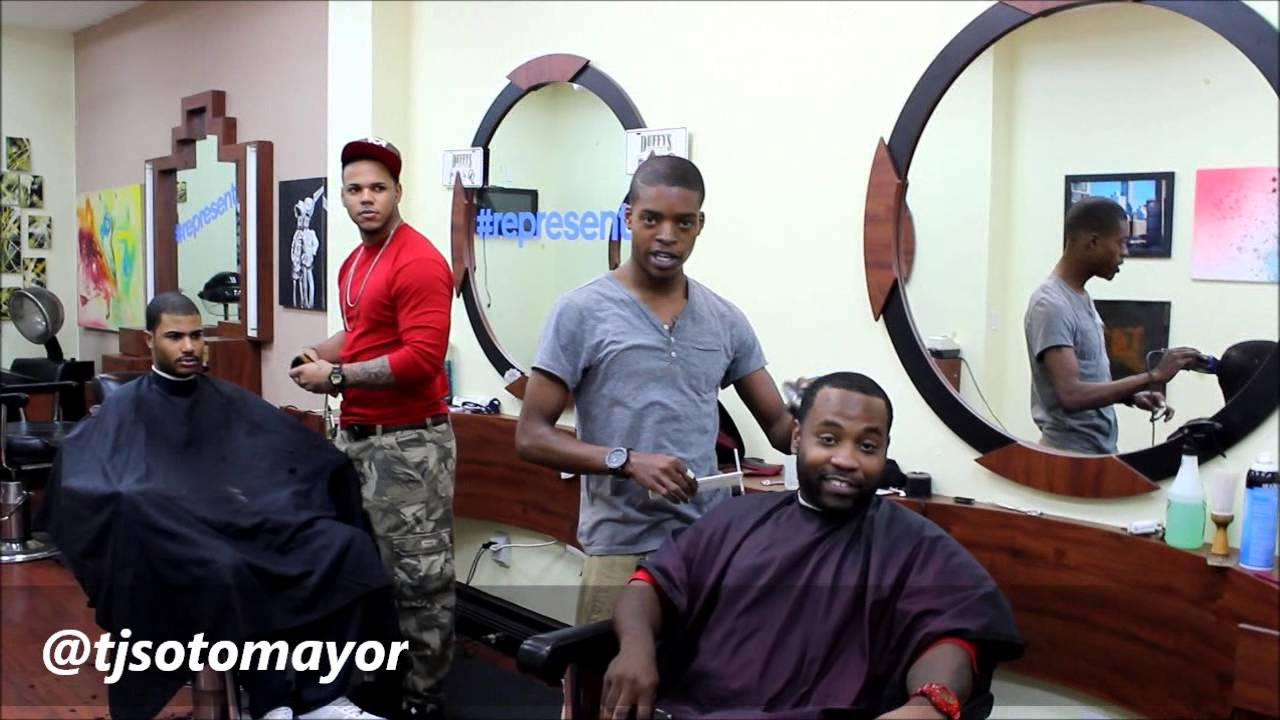 ... Miami Heat Beef! Next Level Barber Shop In Miami Pt 1 of 4 - YouTube