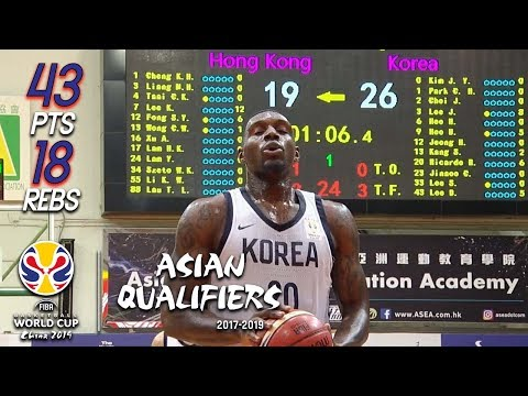 RiCardo Ratliffe 43 Pts 18 Rebs Full Highlights vs Hong Kong (01.07.18) Too Easy 🔥🔥🔥[1080P]
