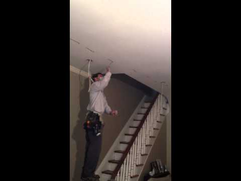 Fishing A Wire Across A Ceiling