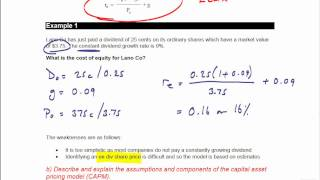acca f9 cost of capital
