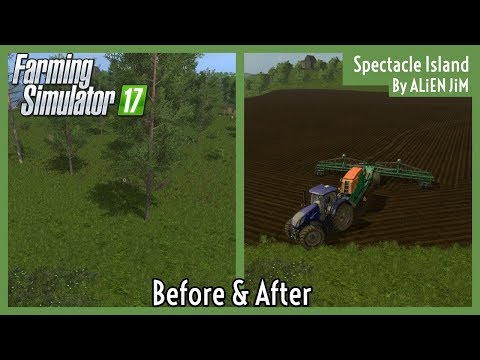 CLEARING OUR FIRST FIELD! | Spectacle Island E2 | Let's Play FS17