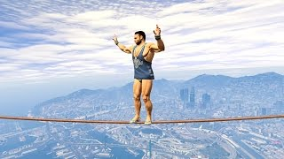 NO ONE CAN SURVIVE THIS IMPOSSIBLE TIGHTROPE! (GTA 5 Funny Moments)