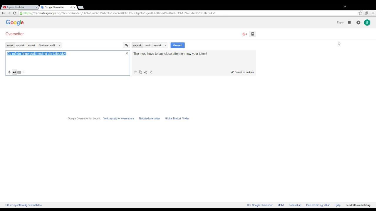 gooogle oversetter