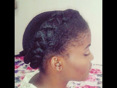 coiffure protectrices simple et rapide sur cheveux crepus