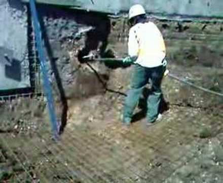 Soil nail grout filling youtube for Soil grouting