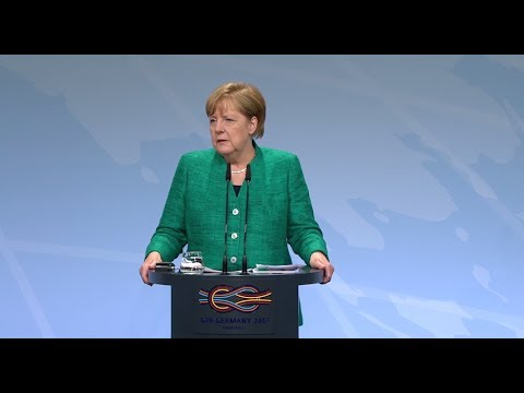 LIVE: German Chancellor Merkel holds news conference at G20 in Hamburg
