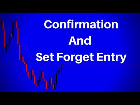 Supply And Demand Confirmation Entry's Set And Forget Entry's (How To)