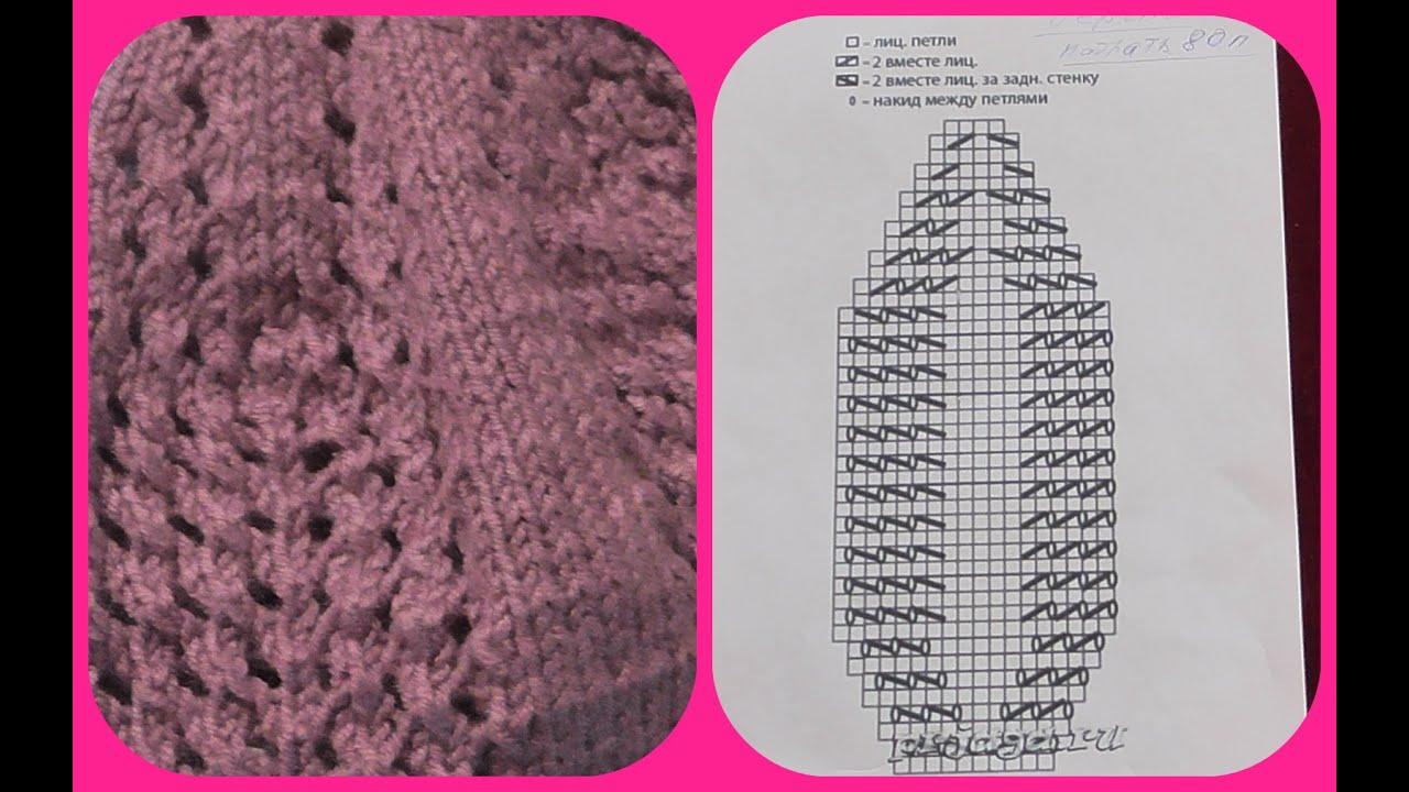 модные береты схема вязания спицами