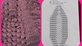 Схема вязания берета спицами. Видео урок. Часть 2
